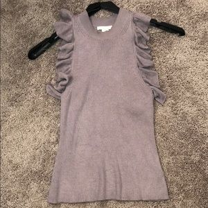 H&M racerback tank with ruffle details